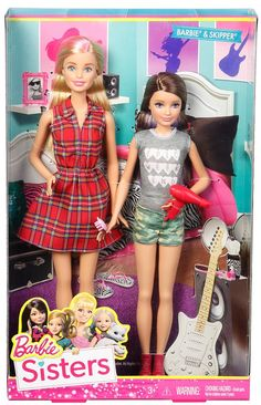 Amazon.com: Barbie Sisters Barbie and Skipper Doll 2-Pack: Toys & Games
