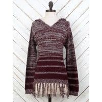 We are obsessed with this beautiful hoodie! Boho casual at its finest. The spacedye coloring is so beautiful, and we are, of course, definitely in love with the long fringe border. Throw this over denim for a comfy boho flare!   Fitted   Lo