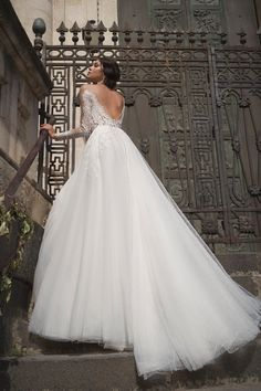 440e88514edb Backless long sleeves dress with amazing tulle skirt. Olfei by Dominiss.
