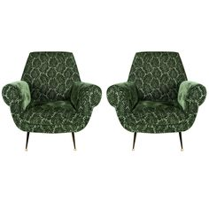 Pair of Vintage Armchairs | From a unique collection of antique and modern armchairs at https://www.1stdibs.com/furniture/seating/armchairs/