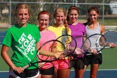 High School tennis group shot