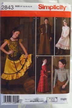 Simplicity 2843 Girls' Costume