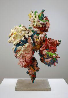 GLENN BROWN Woman I, 2011  oil, acrylic on fibreglass, steel 135 x 90 x 70 cm