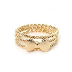 Bow Tie Gold Spiral Ring