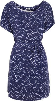 ShopStyle: Splendid Belted polka-dot jersey dress