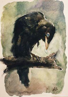 Cvbn by ~YellowSparrow   I love raven art:)