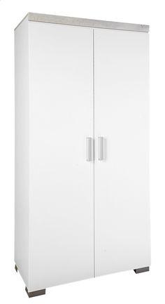 Deze tijdloze, witte kast met 2 deuren Alisa van Transland is onmisbaar in de babykamer!