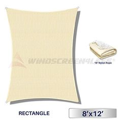 Windscreen4less 8' x 12' Rectangle Sun Shade Sail - Beige... https://www.amazon.com/dp/B01MT9LKHO/ref=cm_sw_r_pi_dp_x_0XnezbCKEC097