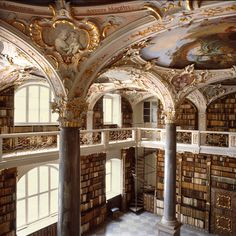 Augustinian Library of Novacella, Brixen, South Tyrol, Italy.this would be an absolute dream come true if I can go to Italy AND a library! Beautiful Library, Dream Library, Beautiful Architecture, Art And Architecture, World's Most Beautiful, Beautiful Places, Casa Retro, South Tyrol, Around The Worlds