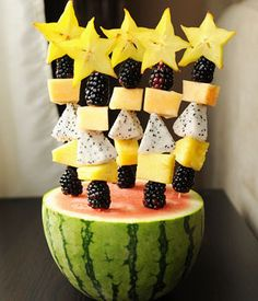 Cute Snack Idea: Fruit Sparkler Wands for New Year's Eve