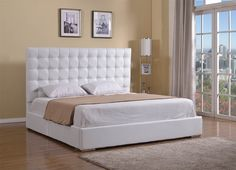 Bella Collection Upholstered Leather King Bed by Casabianca Home | Modern Bedroom Furniture