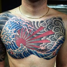 125 Best Japanese Tattoos For Men: Cool Designs, Ideas & Meaning . - 125 Best Japanese Tattoos For Men: Cool Designs, Ideas & Meanings 2020 – Traditional Japanese Wat - Chest Tattoo Japanese, Japanese Tattoo Samurai, Japanese Tattoos For Men, Japanese Tattoo Designs, Japanese Sleeve Tattoos, Tattoo Designs Men, Traditional Chest Tattoo, Traditional Japanese Tattoos, Neo Traditional