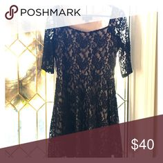 Black Lace Dress Brand: BCX, Size Xl Dresses Midi