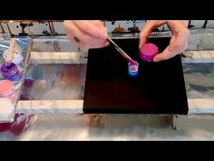 #23 Absolute eye candy in a cup. Acrylic pour painting - YouTube