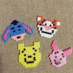 Winnie the Pooh and friends perler beads by perler0_0