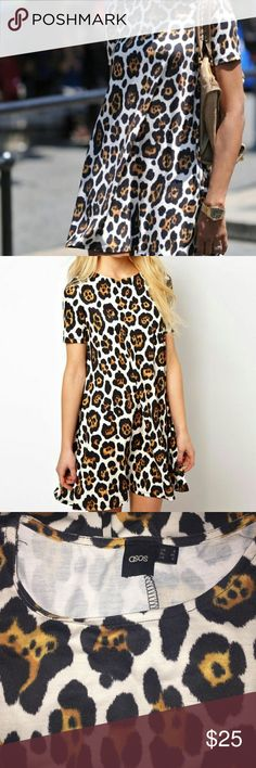 Asos Cheetah/Leopard/Animal Print Dress Just relishing! So cute but doesn't fit me :(  from ASOS. hits mid thigh on me though and I am 5'1 ASOS Dresses