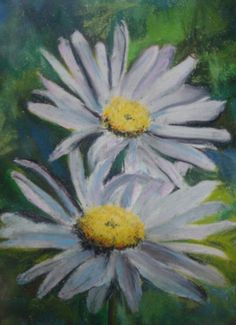 """Daisies"" ~ Pastel Painting by Melinda Etzold"