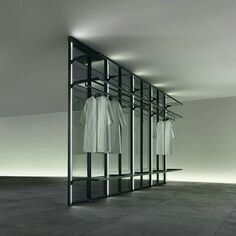 the system can also be equipped with shelves, or can be simply used to close a walk in wardrobe, by complying to existing situation and matching every type of proposals. Walk In Wardrobe, Modern Wardrobe, Bedroom Wardrobe, Walk In Closet, Wardrobe Rack, Home Office Closet, Wardrobe Systems, Interior Architecture, Interior Design
