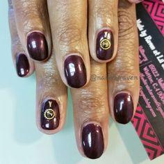 Gel manicure with Swarovski crystals