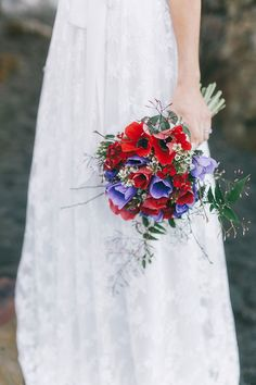#purple and #red #bridal #wedding #bouquet #bloom #details