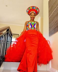 Image may contain: 1 person, standing African Fashion Designers, Latest African Fashion Dresses, African Print Dresses, African Dress, Ankara Fashion, Ankara Dress, Pedi Traditional Attire, Traditional Wedding Attire, Traditional Outfits