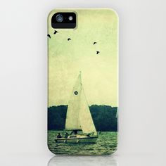 Come Sail Away iPhone & iPod Case, sailboat, summer, case