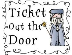 Ticket Out The Door - Check for Understanding Harry Potter Theme