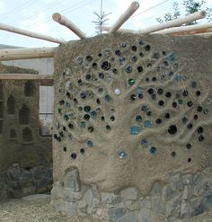 bottle wall art--neat!