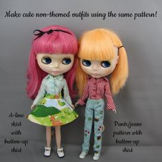 Blythe Doll Pattern for Cowgirl Outfits by KristineAnns on Etsy