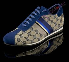 "Gucci Men ""Five Color Stripe - GG Monogram"" Sneakers"