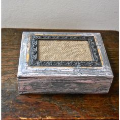 Shabby Chic Jewelry Keepsake Picture Frame Box/Re-Cycled Distressed... ($24) ❤ liked on Polyvore featuring home, home decor, jewelry storage, pink home decor, wood home decor, jewellery box, wooden home decor and wooden jewellery box