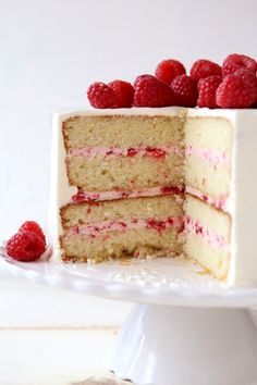 Raspberry White Chocolate Cake   completelydelicious.com