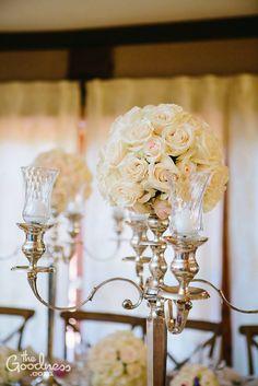 Wedding Reception Decor, Head Table Centerpieces