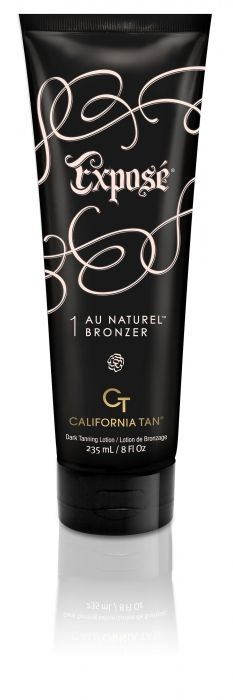 California Tan's Expose Au Naturel Bronzer: Reveals a perfect bronze glow with All Natural Bronzers that speed up dark results  Luscious Shea Butter delivers healthy skin-soothing benefits  CT-Protect™ shields skins youthful appearance with nutrients to prevent damage  Accelerate and build the ultimate golden color with Vitatan™ 2010  Packed with anti-aging Nutrients to neutralize free radicals