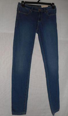New Womens Size 0 Lauren Conrad Denim Jegging Mid Rise Skinny Leg #LaurenConrad #Jegging