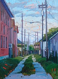 """""""Painted Path,"""" by René Wiley by Rene' Wiley Gallery Oil ~ 24 x 18"""