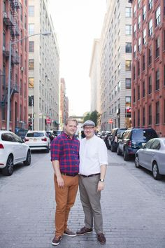 Downtown Manhattan | Classic New York City Central Park Gay Engagement | Equally Wed - LGBTQ Weddings
