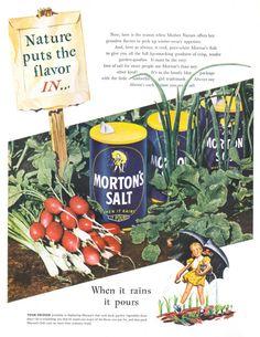 Morton Salt Umbrella Girl 1947 Ad via
