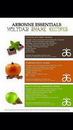 Arbonne Holiday Protein Shakes