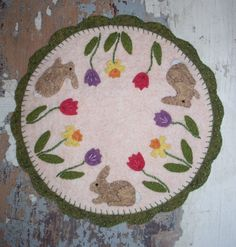 Bunny Candle Mat by JustJills on Etsy, $20.00