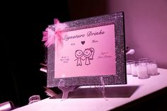 My wedding drink specials :) #bride #groom #drinks #wedding #signaturedrink #weddingdrinks #pink #weddingstuff