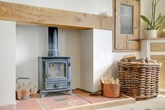 Oak lintel an pamments used fireplace