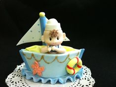 Nautical++Favors+/+Sailboat+Cake+topper+/+by+PartyFavorsMiami,+$15.99