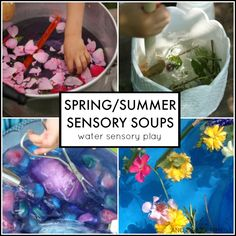 Spring/Summer water sensory soup ideas for toddlers and preschoolers from And Next Comes L