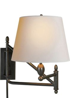 Visual Comfort Wall Mount - Bronze with Natural Paper Shade Finish