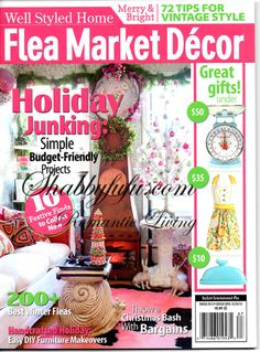 Holiday home shoot featured in Flea Market Decor magazine