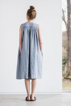 Heavy weight linen sleeveless summer dress / by notPERFECTLINEN