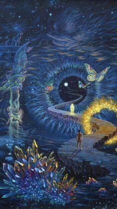 Psychedelic Preacher — psyhaven: Artwork by Tuco Amalfi Art And Illustration, Art Inspo, Art Visionnaire, Psy Art, Hippie Art, Dope Art, Visionary Art, Surreal Art, Aesthetic Art
