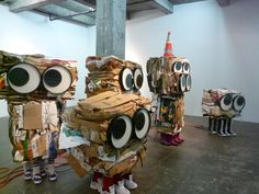 also by Rob Pruitt, 'Cardboard Monsters'