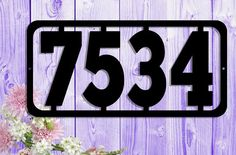 Simple & Modern Custom Metal Address Sign Large by UpNorthSign
